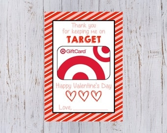 Target gift card etsy teachers valentines day printable gift card holder for target gift card 5x7 negle Image collections