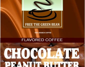 Chocolate PEANUT BUTTER Cup flavored coffee, 12oz