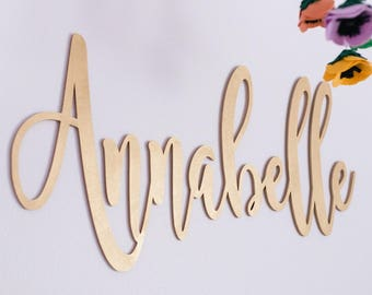 """Large Custom Name Sign - 1st Birthday Sign - Backdrop Sign - Laser Cut Wood - Nursery Sign - 30"""" Wide - Free Mini Sign Included #14327"""