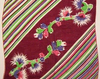 Vintage Deco Cactus Flower Hankie
