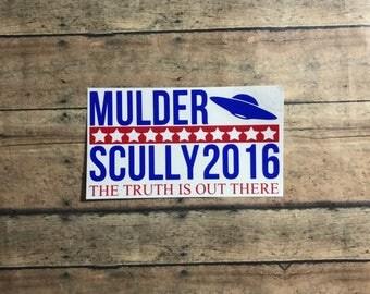 vote mulder and scully 2016 xfiles aliens politics *please read entire description*