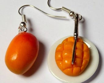 Delicious earrings, exotic mango