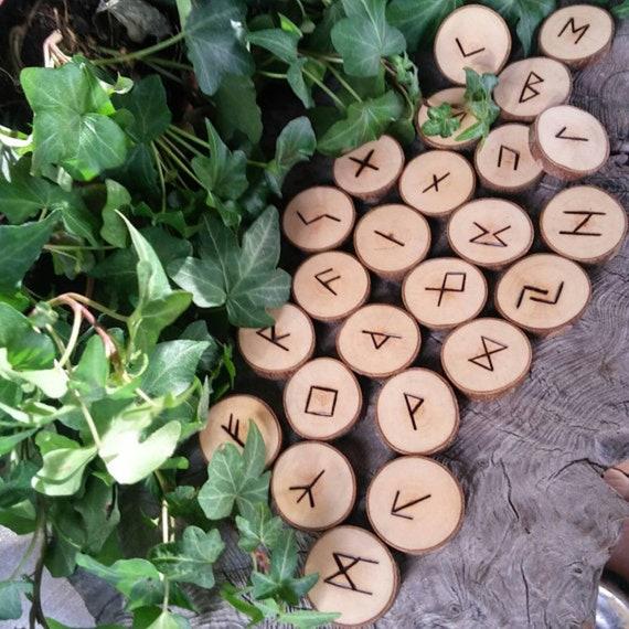 Wooden Runes, Elder Futhark Runes, Viking Runes, Maple Runes, Divination, Wood Runes, Norse Runes, Rune Set, Futhark Runes