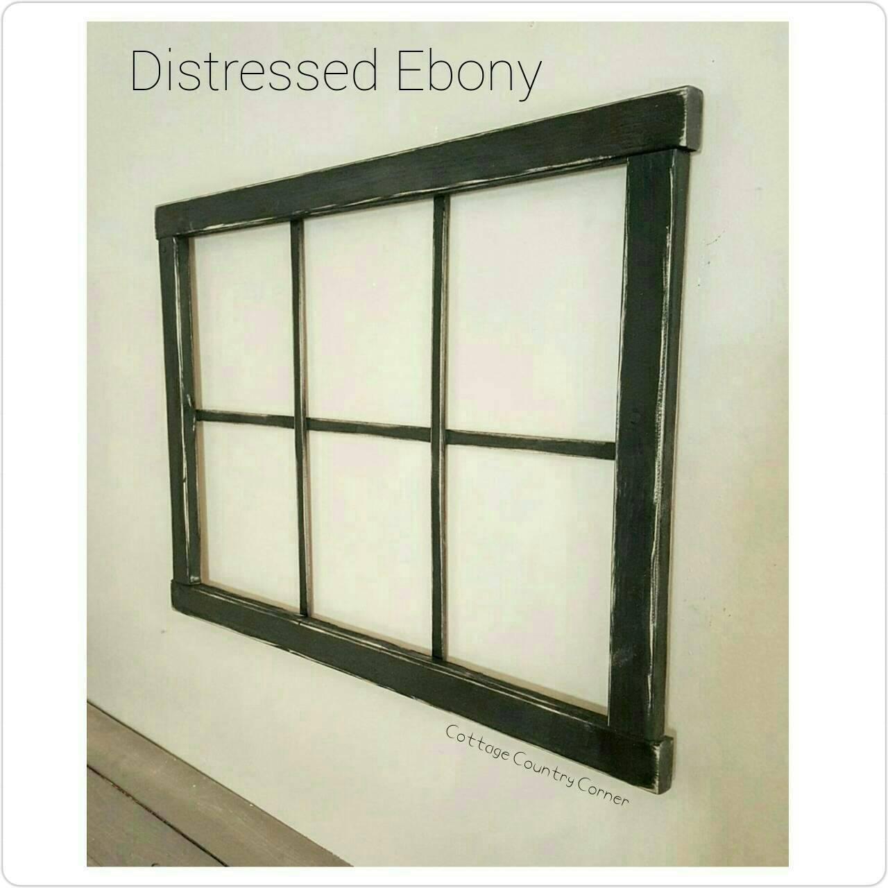 6 pane faux window frame. Black Bedroom Furniture Sets. Home Design Ideas