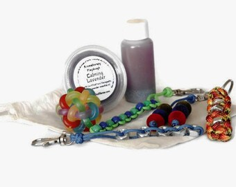 Calm Down Kit - Calming Kit - Fidget Kit - Anxiety Kit - Stress Relief - Fidget Toys - Sensory Fidget - Fidget Set - Calming Sensory Toys