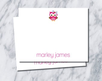 Owl Stationery/ Thank You Cards/ girl thank you cards