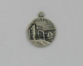 Sterling Silver Miami Gateway to the Americas Charm