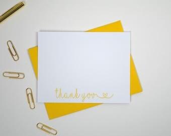 Thank You Stationery/Thank You Stationary/Thank You Notes/Blank Thank You Cards/Thank You Notecards/Simple Thank You Note Cards/Set of 12