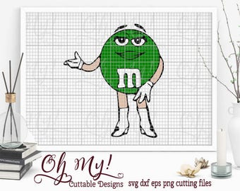 M&M Girl Layered Svg Dxf Eps Png Cutting Files