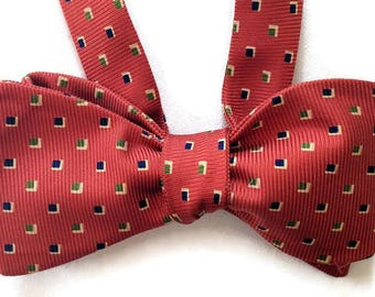 Silk Bow Tie for Men - Copland- One-of-a-Kind, Handcrafted - Self-tie - Free Shipping