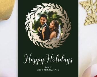 Merry Christmas Holiday Card Married Christmas Wedding Photo Holiday Christmas Just Married Newlywed Christmas | Digital OR Printed