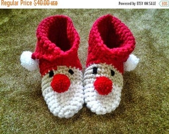 ON SALE Woman's Santa Slippers