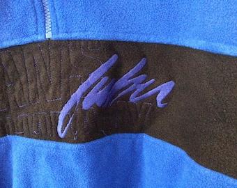 FUBU blue fleece 1/4 zip up pullover