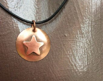 Copper Star and Circle necklace