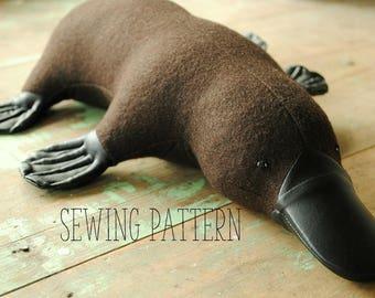 Soft toy sewing pattern /platypus / PDF tutorial by Willowynn