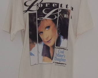 Vintage 1995 Loretta Lynn, Coal Miner's Daughter T-Shirt