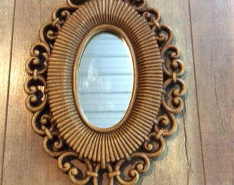 Vintage Homco 1978 Mirror Wall Decor FREE SHIPPING