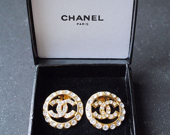 Chanel ohrringe cc original