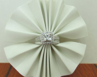 Fine Silver Engagement Ring
