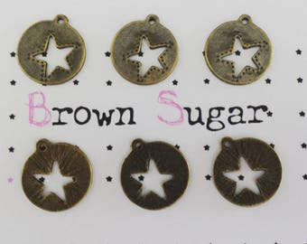 Charm Star Medal ☆ bronze creating jewelry ☆