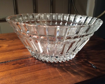 Lead Crystal Bowl~Vintage Crystal Bowl