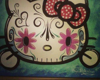 Day of the dead hello Kitty.