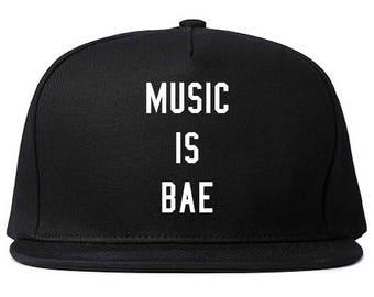 Music is Bae Snapback Hat by Fashionisgreat