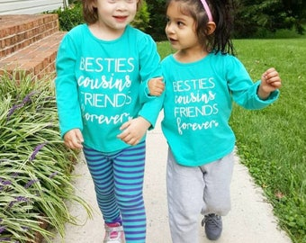 Besties Friends Forever Toddler Shirts