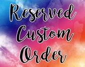 Custom Name order for Bobbie