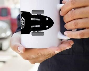 KillerBeeMoto: U.S. Made Vintage Italian Open Wheeled Sports Car Coffee Mug
