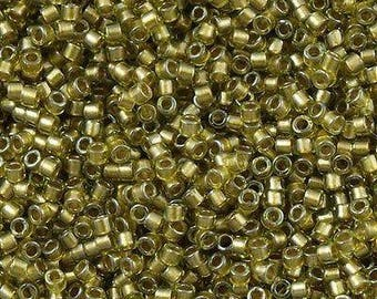 MIYUKI Delica Beads 11/0 DB908, 20grams, Sparkling Light Yellow Chartreuse