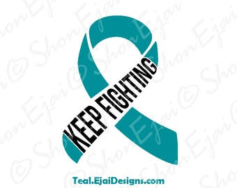 Interstitial Cystitis, Myasthenia Gravis, Dysautonomia, Scleroderma, Ovarian Cancer Svg, Cervical Cancer, Teal, Awareness SVG,