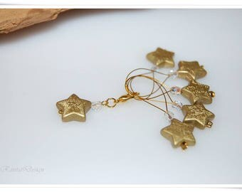 Marker knit accessories wire loops golden Stardust stitch marker stitch markers for knitting
