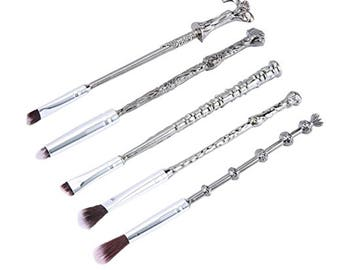 5pc Magic Wand Wizard Themed Makeup Brushes Make Up Cosmetic Set