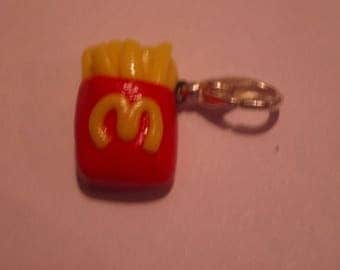 FANCY FRENCH FRIES POLYMER CLAY CHARM