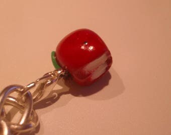 FANCY am FIMO polymer clay white Apple charm