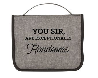 Funny Valentines Day Gift for Boyfriend Gift Ideas Valentine's Gift for Him Valentine's Gift for Husband - Hanging Toiletry Bag  (EB3238GM)