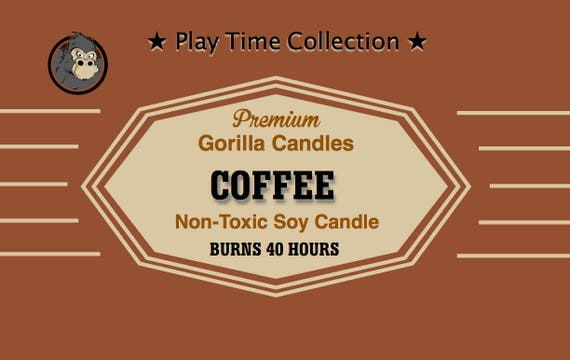 Black Coffee Scented Soy Candle