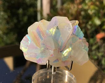 Angel Aura Apophyllite Crystal, Crown, Third Eye Chakra Crystal Magick, Divination, Metaphysical,  ZeoA13-0618