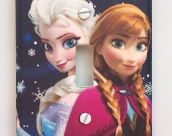 Disney Frozen Elsa Ana Light switch cover switch plate Personalized girls room // SAME DAY SHIPPING**