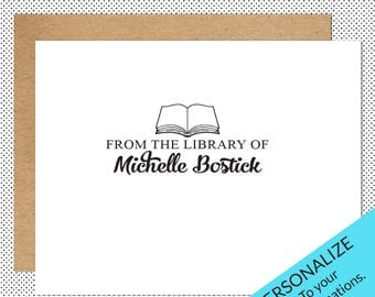 Custom Made Personalized Library Stamp, Ex Libris, Gift for Readers & Book Lovers | LS6