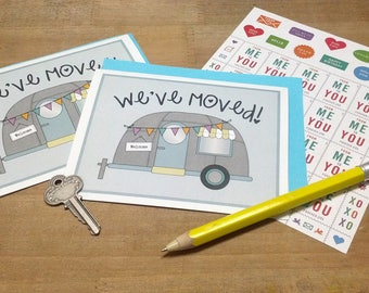 INSTANT DOWNLOAD | Printable Moving Announcement Cards