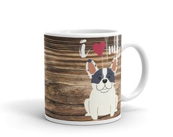 Love My French Bulldog Mug - Woodlike