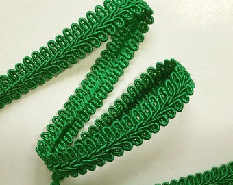 Gimp Trim,  Braid Trim, Braid Trim by the Yard, Kelly Green Braid Trim, Green Trim, Home Decor Trim, Trim, Kelly Green Trim
