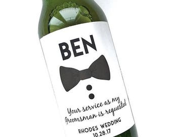 Groomsman Beer Labels- Be my Best Man / Groomsman Beer