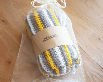 Personalised knitted blanket-  Design our own. Cosy baby blanket -  blanket for cot/ pram - Baby shower gift- nursery