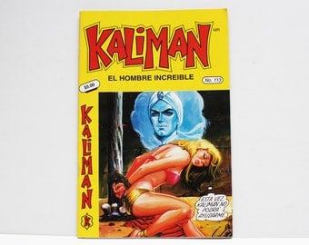 Kaliman El Hombre Increible No 113 El Faraon Sagrado Revista en Español Comic Book in Spanish RARE
