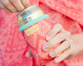 Coral Cove Drink Wrap * Insulated Can Holder * Bottle Insulator * Insulated Drink Holder Wrap * Gift