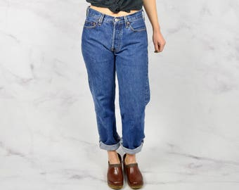 """Vintage Levi's 501s with Button Fly Red Tab 28"""" Waist"""