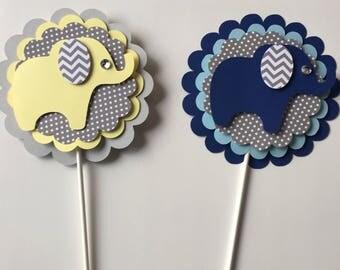 Elephant baby shower/ Elephant theme/ elephant/ yellow elephant centerpieces/Peanut elephant / baby elephant